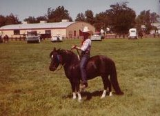 Linda and Chief, her first pony.